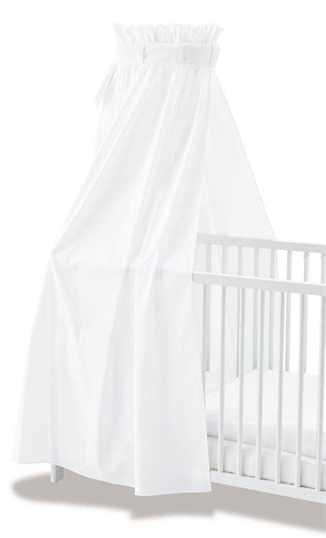 sieges ergonomiques ciel de lit bébé voile blanc 100 coton pinolino