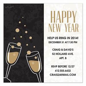 New years invite invitations cards on pinggcom for New year invite templates free