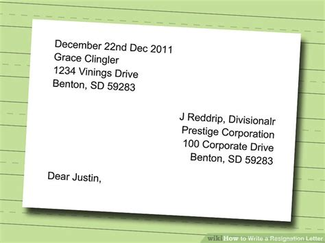 how to write address on a letter how to write a resignation letter with sle wikihow 53418
