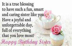 Birthday Quotes for Sister - Cute Happy Birthday Sister Quotes