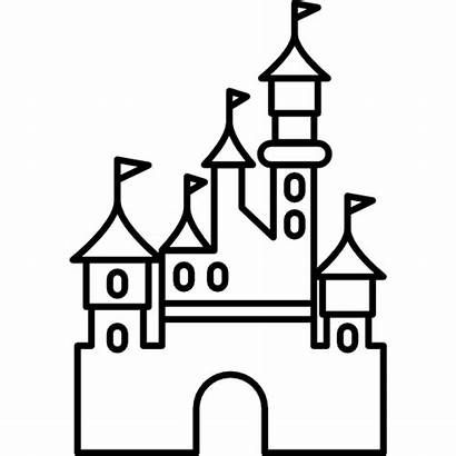 Castle Disney Drawing Disneyland Clipartmag