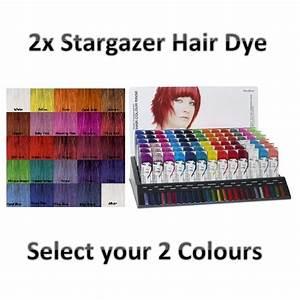 Directions Hair Colour Chart 2x Stargazer Semi Permanent Hair Colour Dye Choose Your