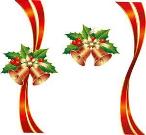 Transparent Christmas Ribbon Border