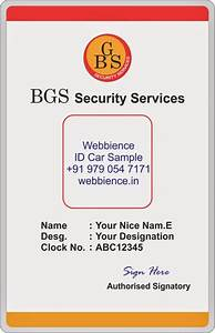 Template Galleries  Secuity Company Id Card Templates Designs