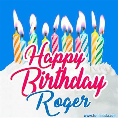 Roger Birthday Happy Cake Candles Funimada Gifs