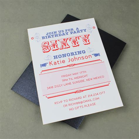 60th Birthday Invites Free Template by 60th Birthday Invitation Template Print