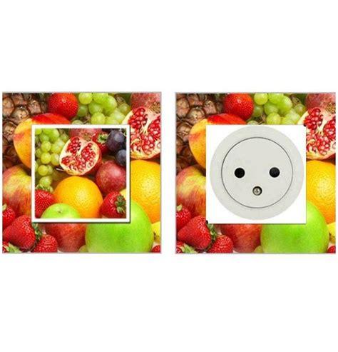 stickers pour cuisine d oration sticker pour interrupteur avec des fruits décoration