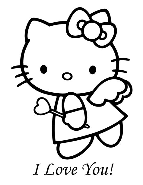 print hello kitty coloring pages angle | Hello Kitty Angel