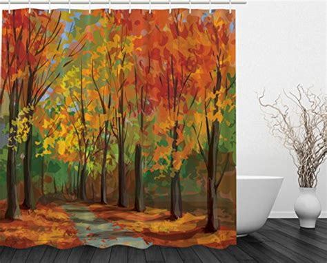 fall park road autumn leaves country home decor seasonal