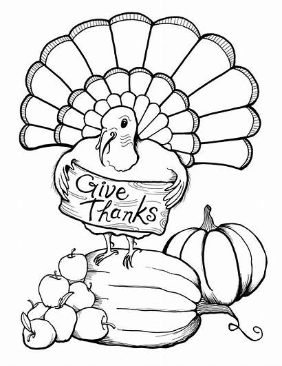 Coloring Pages November Thanks Give
