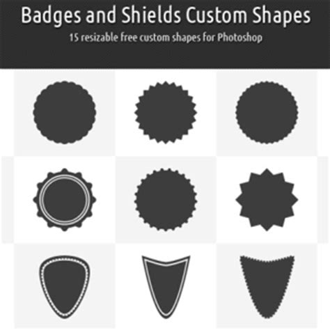 logo custom shapes for photoshop