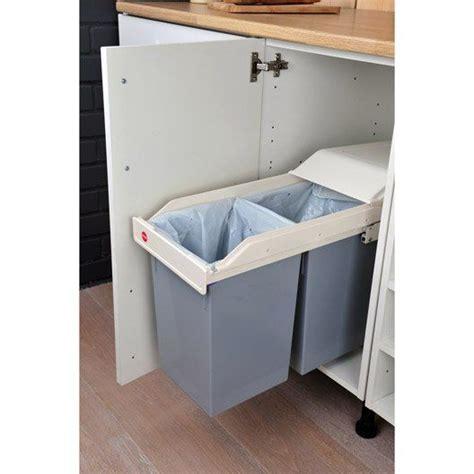 poubelle de cuisine coulissante sous évier cuisine