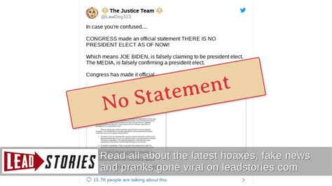 fact check congress     official statement