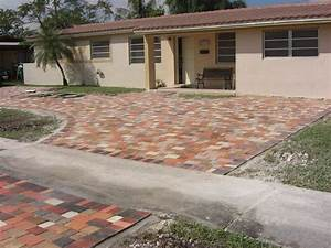 Driveway  Patio  U0026 Travertine Pavers Add Color And Value