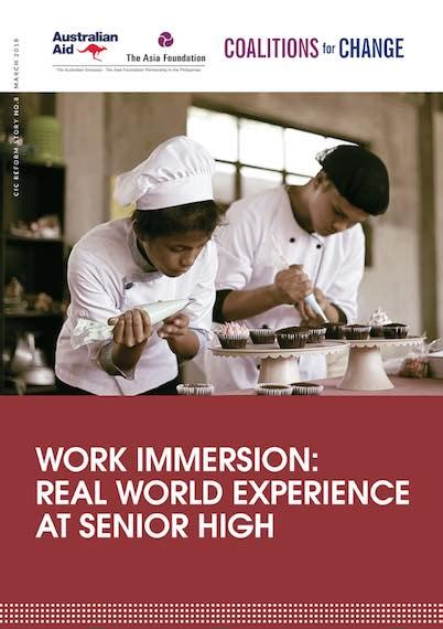 work immersion real world experience  senior high
