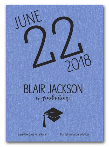 Shimmery Blue Modern Graduation Save The Date Cards. Physical Therapy Graduation Gifts. Yearly Performance Review Template. Silver High School Graduation. Online Business Card Template. Graduation Requirements For High School. African American Graduation Rates. Inspirational Quotes For Graduating Students. Lightning Mcqueen Cake Template