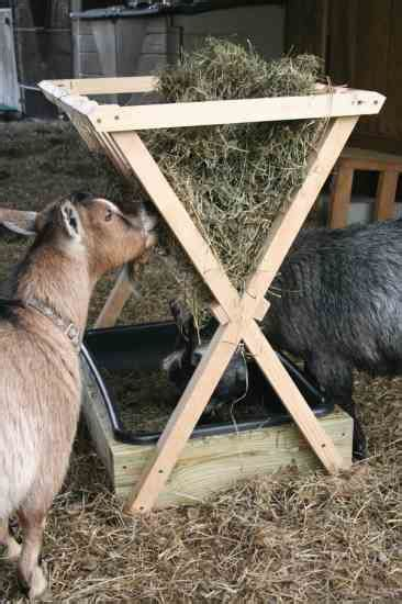 goat hay rack how to build a hay feeder for smaller livestock farm and