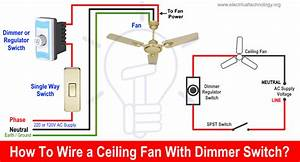 Ceiling Fan Light Dimmer Switch Wiring Diagram