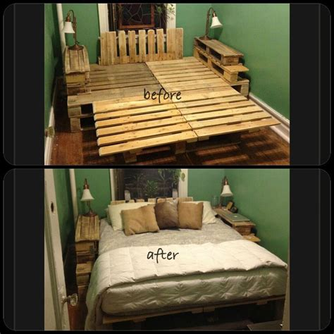 diy wood pallet bed frame decoracion de habitacion