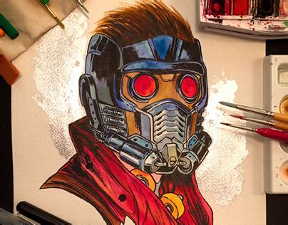 Star Lord Watercolor On Behance