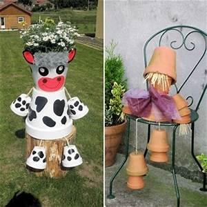 pots de fleurs detournes pour un maximum d39effet l39art With meuble pour pot de fleur
