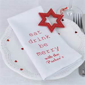 personalised eat drink be merry napkins by andrea fays notonthehighstreet com