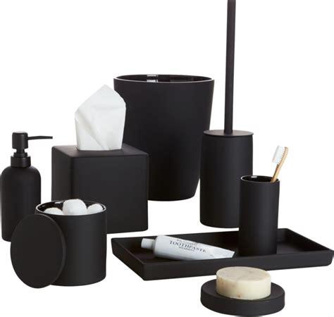 rubber coated black bath accessories cb