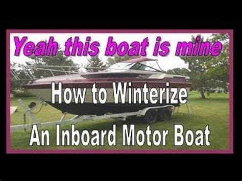 How To Winterize Inboard Boat Motor by Quot How To Winterize A Boat Quot Do It Yourself Quot How To