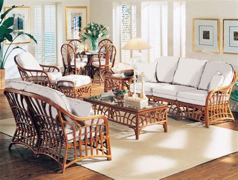 south sea rattan  kauai indoor living room set