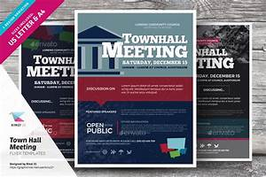 Free Flyer Maker Printable Town Hall Meeting Flyer Templates By Kinzi21 Graphicriver