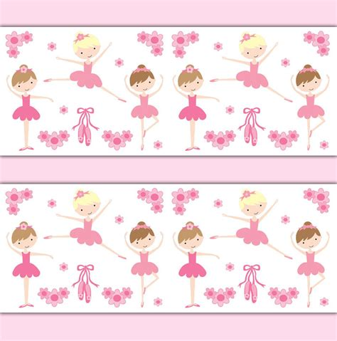 ballerina wallpaper border wall decal baby ballet nursery sticker ebay