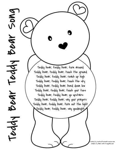 letter t teddy sorting creative preschool resources 819 | teddy bear teddy bear song page 001