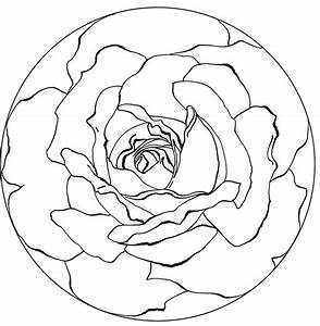 Free Printable Rose Mandala Coloring Pages Coloring Page ...