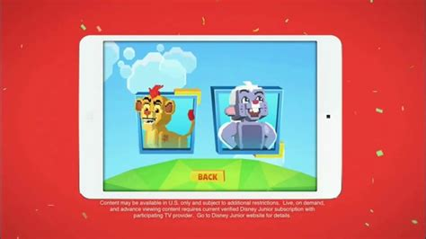 disney junior app tv commercial  lion guard super