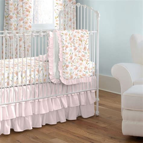pink hawaiian floral crib bedding carousel designs