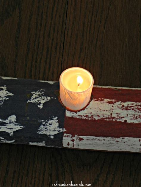 candele americane american flag log candle can decorate