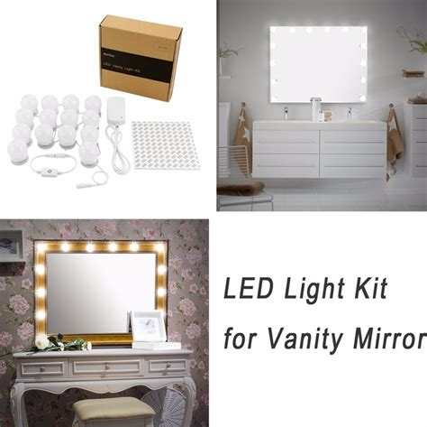 diy vanity mirror diy vanity lights kit for lighted makeup