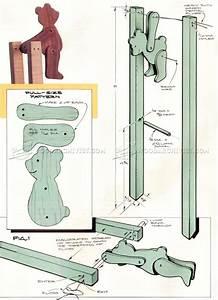 #1247 Acrobatic Bear Folk Toy Plans - Children's Wooden