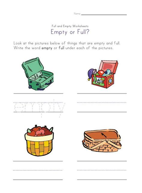 8 Best Images About Full And Empty On Pinterest  Pictures Of, Math And Words