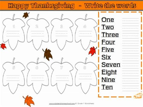 free grade 1 thanksgiving themed math worksheets
