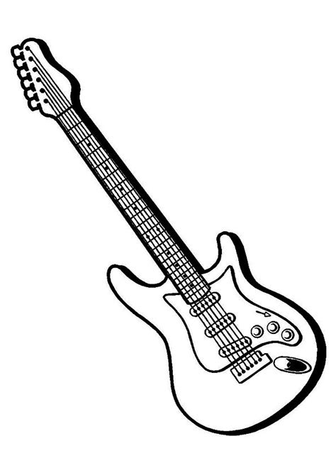 colorful guitar coloring pages