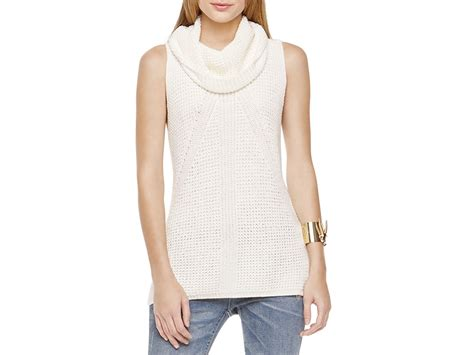 sleeveless turtleneck sweater lyst two by vince camuto sleeveless turtleneck sweater