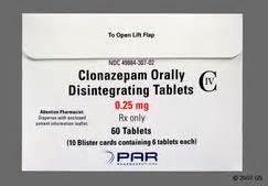 Klonopin ( clonazepam ) Clonazepam Orally Disintegrating Tablets