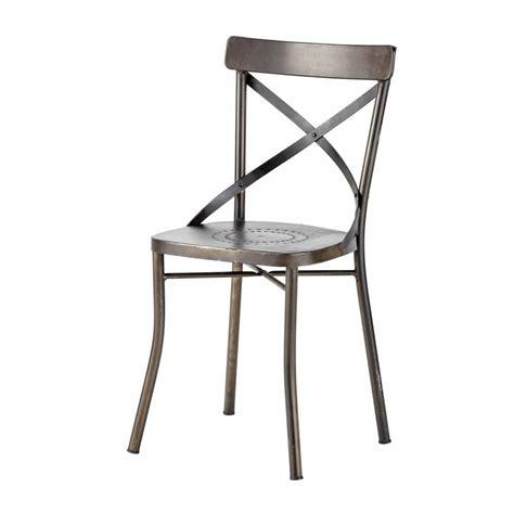 chaises metal chaise de jardin en métal tradition maisons du monde