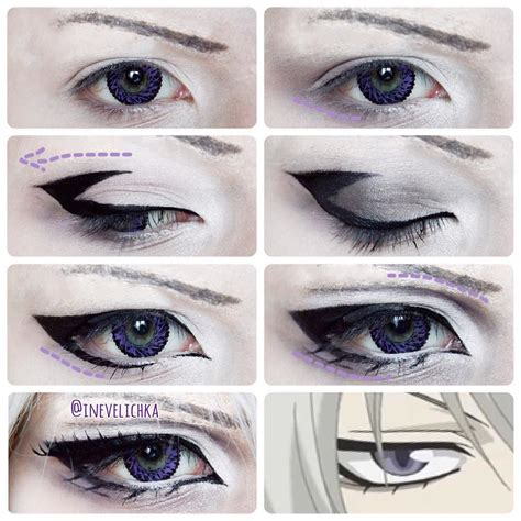 anime eyeliner tomoe makeup tutorial lenses from uniqso requested by