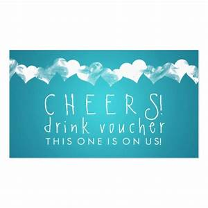 collections of wedding drink voucher business cards With drink token template
