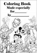 Coloring Pages Barbie Personalised Colouring Books Sheets Covers Printable Sheet Making Them Together Disney A4 Using Into Parents sketch template