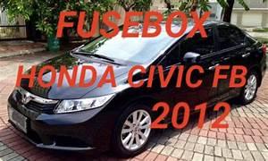 Tempat Box Sekring Honda Civic Fb 2012