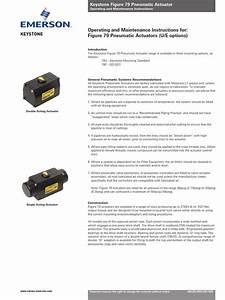 Manual Guides Keystone Figure 79 Pneumatic Actuator