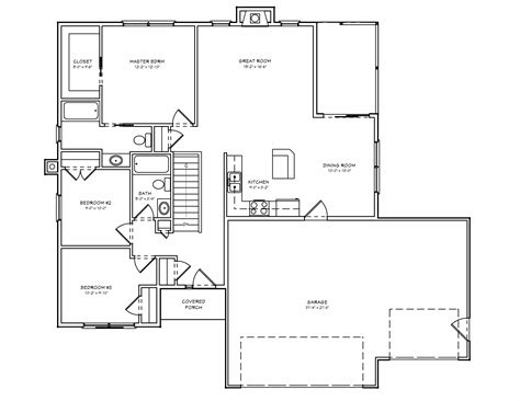 small house floor plans with basement beautiful 3 bedroom house plans with basement 7 small